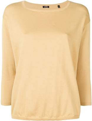 Aspesi plain knitted top