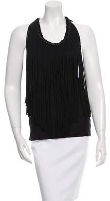Lanvin Sleeveless Fringed Top