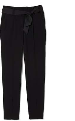 Vince Camuto Crepe Ribbon-belt Pants