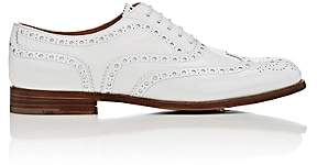 Church's Women's Burwood Patent Leather Wingtip Oxfords-White