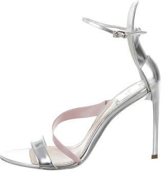 Christian Dior Metallic Ankle Strap Sandals