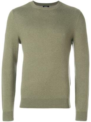 A.P.C. intarsia logo sweater