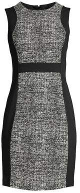 Donna Karan Paneled Sheath Dress