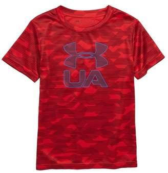 Under Armour Edge Logo HeatGear(R) T-Shirt (Toddler Boys & Little Boys)