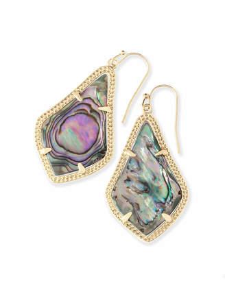Kendra Scott Alex Gold Drop Earrings in Abalone Shell