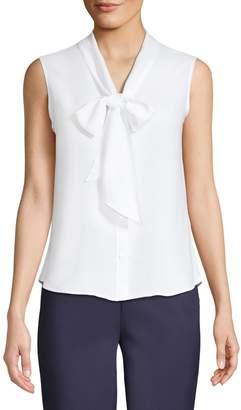Calvin Klein Suit Separates Tie-Neck Sleeveless Top