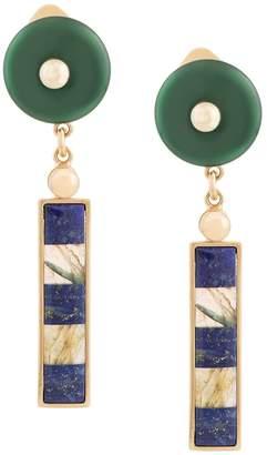 Lapis Crystalline Labradorite earrings