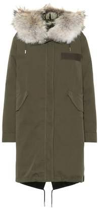 Yves Salomon Army Fur-trimmed cotton parka