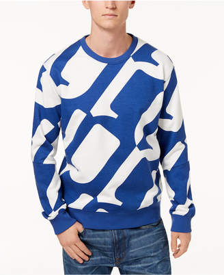G Star Men's Hyce Allover Oversized Logo Sweatshirt, Created for Macy's