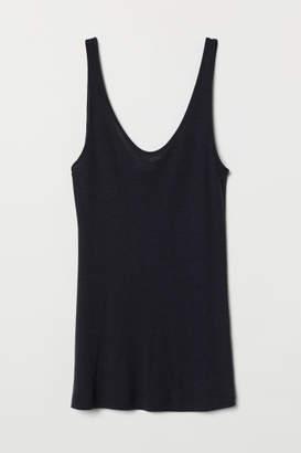 H&M Cashmere-blend Camisole Top - Blue