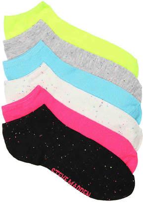 Steve Madden Speckle No Show Socks - 6 Pack - Women's