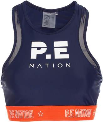 P.E Nation Figure Mesh Detail Sports Bra