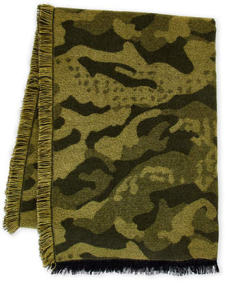 Marcus Collection Adler Camo Frayed Blanket Scarf