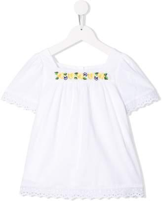 Patachou lace trim blouse