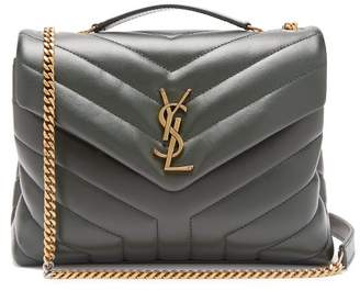 Saint Laurent - Monogram Quilted Leather Bag - Womens - Dark Green