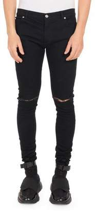 Balmain Men's Ultra Skinny Destroyed Jeans