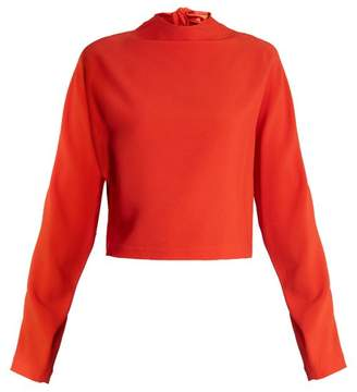 Diane von Furstenberg High Neck Cropped Top - Womens - Red