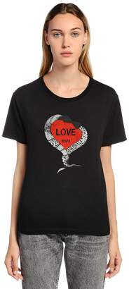 Saint Laurent Love 1971 Printed Cotton Jersey T-Shirt