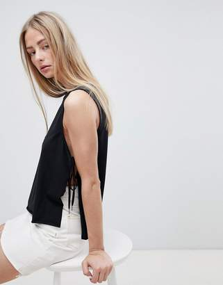 Dr. Denim Tank with Exposed Sides
