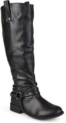 Co Brinley Womens Wide-Calf Knee-High Ankle-Strap Riding Boot