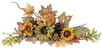 AdmiredbyNature Artificial Sunflowers/ Pumpkins/ Pinecone/ Maple Leaves/ Berries Fall Festive Harvest Display Swag