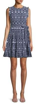 Kate Spade Sleeveless Eyelet Wrap Mini Dress