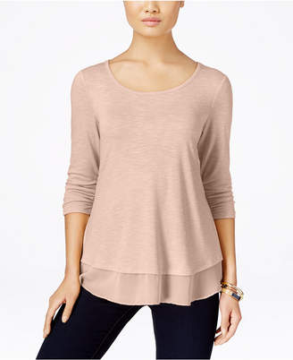 Style & Co Chiffon-Hem Top, Only at Macy's $34.50 thestylecure.com