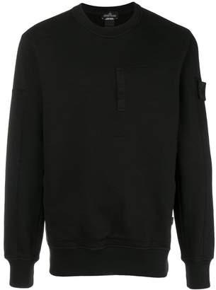 Stone Island Shadow Project long-sleeve fitted sweatshirt