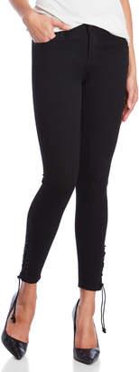 YMI Jeanswear Lace-Up Skinny Jeans