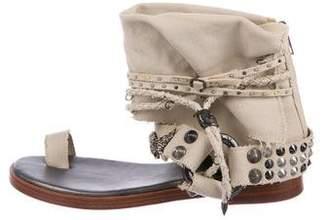 Zadig & Voltaire Canvas Embellished Sandals