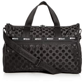 Le Sport Sac Rebecca Polka-Dot Weekender Duffel Bag