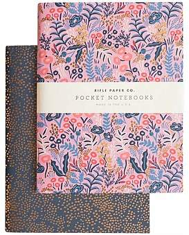 Rifle Paper Co. Pack Of 2 Notebooks - Plain - Pocket - Tapestry