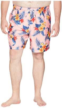 Nautica Big Tall Hibiscus Floral Trunk Men's Swimwear