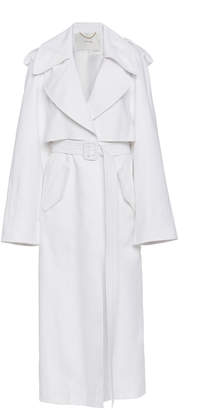 ADAM by Adam Lippes Pleat Back Cotton Twill Trench Coat