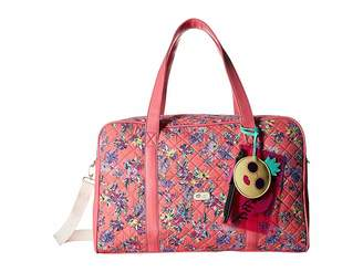 Luv Betsey Cruisn Star Print Weekender With A Pass Through On the Back Weekender/Overnight Luggage