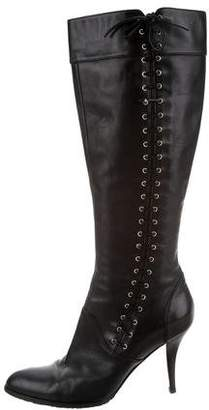Sergio Rossi Lace-Up Knee Boots
