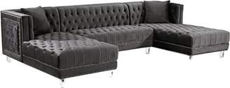 Meridian Furniture 631-Sectional Moda Collection Sectional