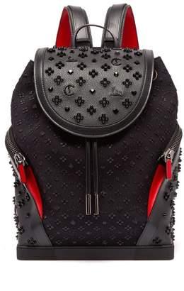 Christian Louboutin - Explorafunk Studded Leather Backpack - Mens - Black