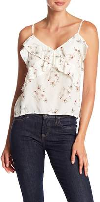 Sincerely Jules Margaux Floral Ruffle Silk Tank Top