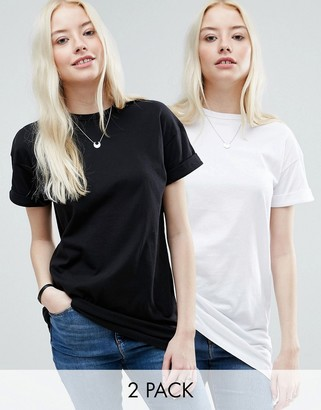ASOS The Ultimate Easy Longline T-Shirt 2 Pack $31 thestylecure.com