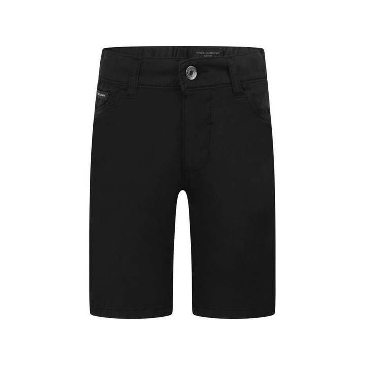 Dolce & GabbanaBoys Black Cotton Shorts
