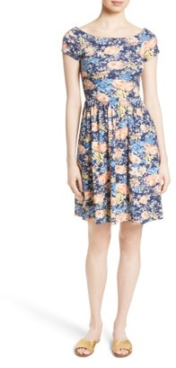 Women's Rebecca Taylor Floral Fit & Flare Dress $295 thestylecure.com