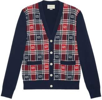 Gucci GG check wool cardigan