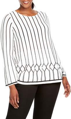 Foxcroft Affina Cotton Blend Pointelle Sweater