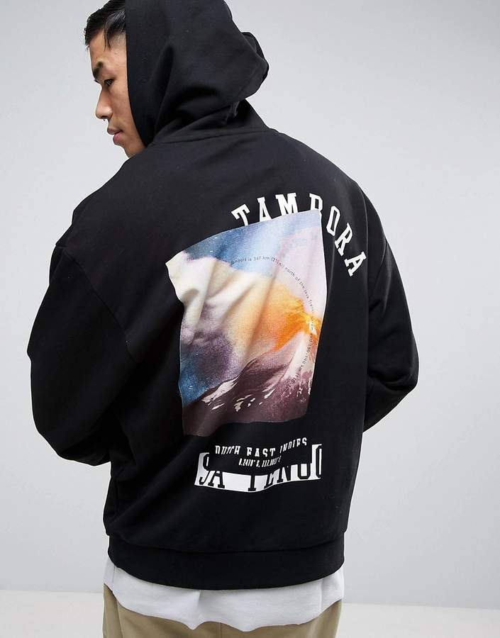 ASOS Oversized Hoodie With Back Print