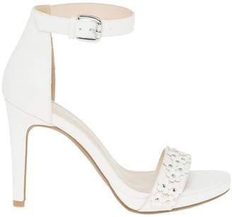 Le Château Women's Floral Faux Leather Ankle Strap Sandal