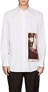Oamc Men's Marrakesh-Patch Cotton Shirt - White