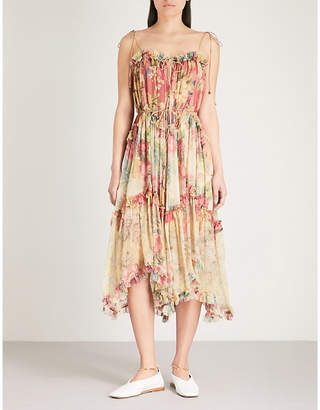 Zimmermann Melody Floating silk-georgette midi dress