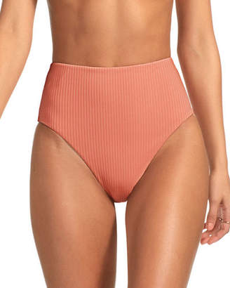 Vitamin A Lupe High-Waist High-Leg Bikini Bottom