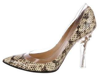 Valentino Embellished Pointed-Toe Pumps